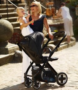 matka z dzieckiem, wózek