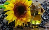 Kwiat słonecznika i olej